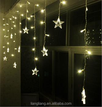 Multi Function Decoration Led Light Curtain With Star