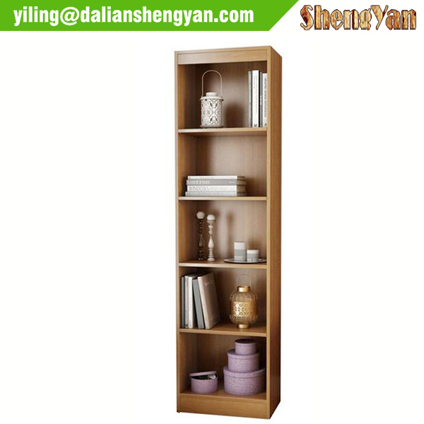 5 boekenplanken smalle hoge boekenkast