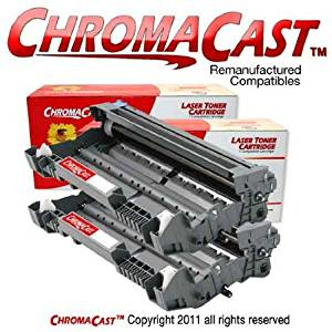 ChromaCast DR520/620 2-Pack Drum Unit Replacement for Brother DR520 and DR620 - Premium Re-manufactured Cartridge, Compatible with Brother DCP-8060, DCP-8065DN; HL-5240, HL-5250DN, HL-5250DNT, HL-5270DN, HL-5280DW; MFC-8460N, MFC-8660DN, MFC-8670DN, MFC-8860DN, MFC-8870DW