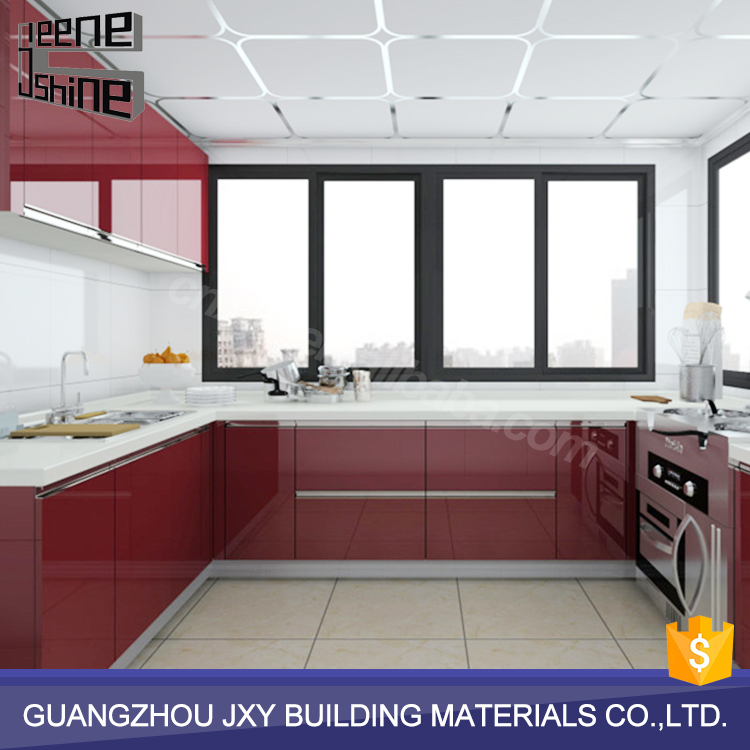 Hot selling acrylic kitchen cabinets indian self assemble kitchen cabinets designs for small kitchens