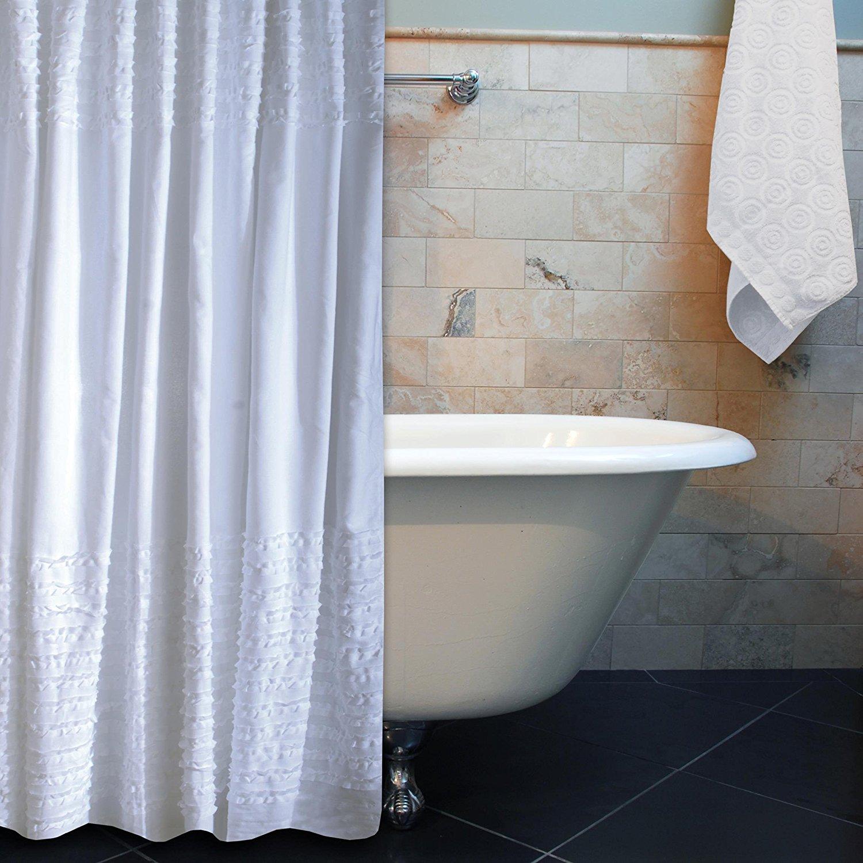 Cheap White Ruffle Shower Curtain, find White Ruffle Shower Curtain ...