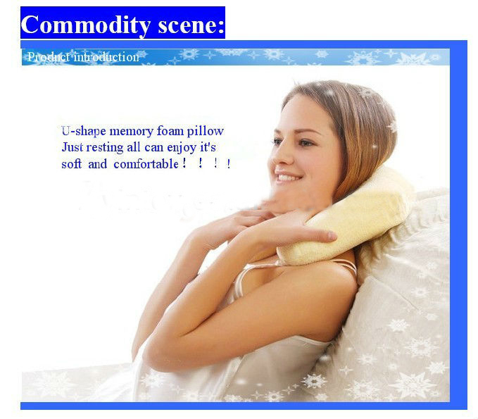 High quality Soft comfortable memory foam neck travle pillow