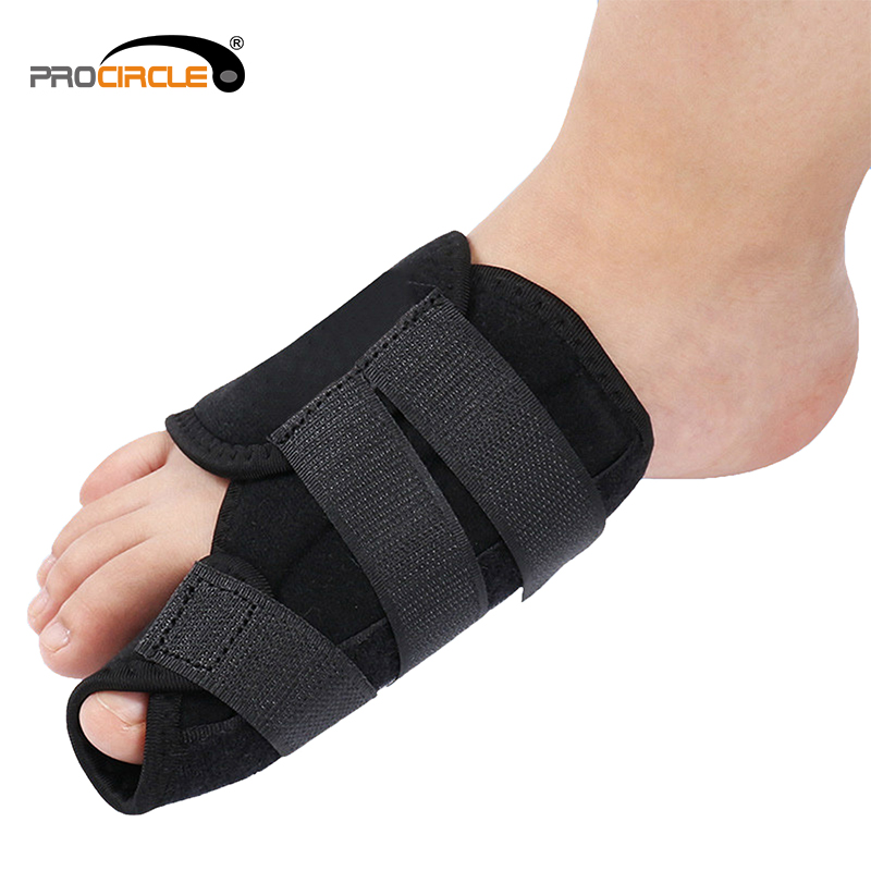Durable Black Adjustable Hallux Valgus Nylon Bunion Corrector