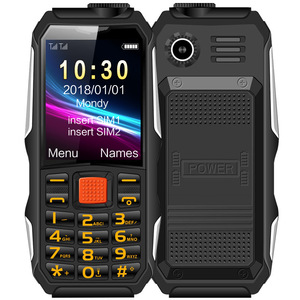 Haiyu H1 Waterproof Shockproof Mobile Phone Long Standby Elder Cellphone 4800 mAh Led Flashlight Cell Phone