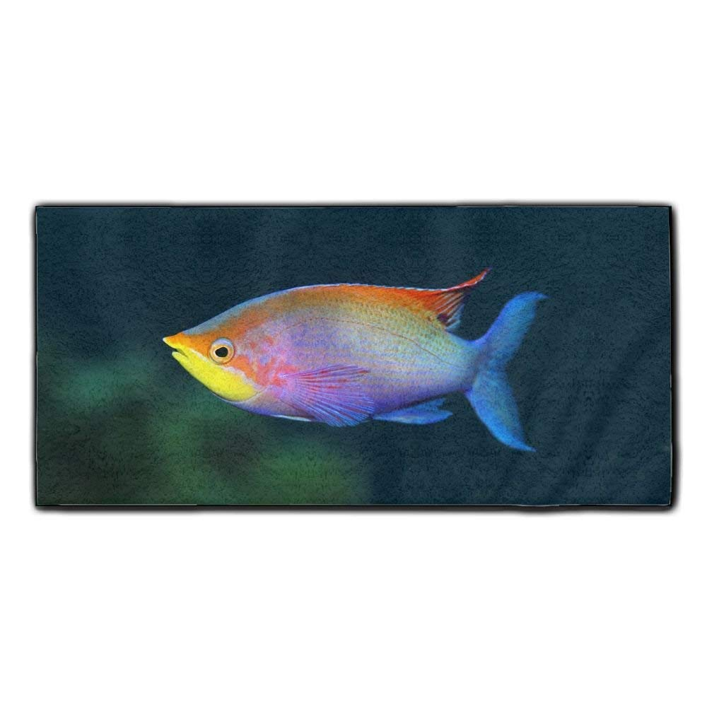 Baerg Microfiber Super Absorbent Face Towel Colorful Fish Hair Care Towel Gym And Spa Towel