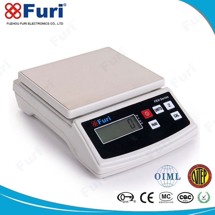 Furi electronic kitchen scale, FEH kitchen weighing scale, LCD digital kitchen scale