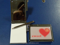 Hot selling metal memo pad with pen holder
