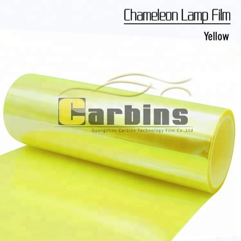 Chameleon tint headlight film LED lamp car sticker yellow color factory big sale price
