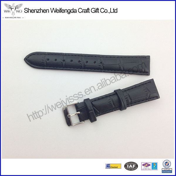 Factory Direct Embossed Custom Leather Watch Band