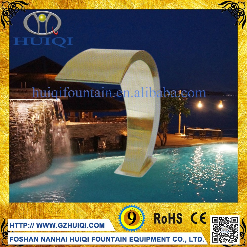 Chinese Stainless Steel Garden Wall Mounted Water Garden Fountain Waterfall Decorative Outdoor