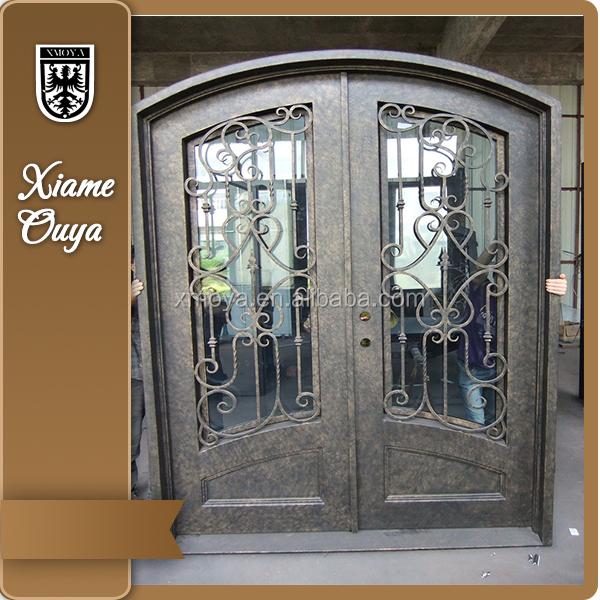 diseo de hierro puertas de entrada principal de seguridad para la casa