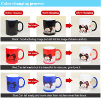 11oz ceramic color changing coffee use low price mug sublimation