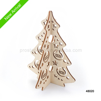Reclaimed wooden laser craft of stand christmas tree for christmas decoration gift