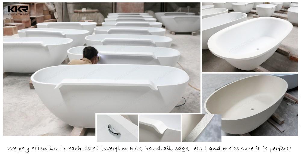 Solid surface bathtub walk in bathtub acrylic bath tub for for Best freestanding tub material