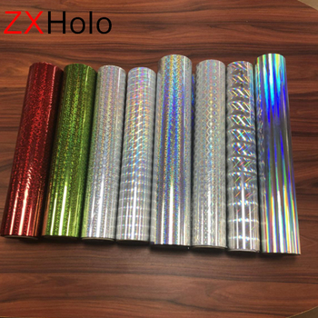 Gift boxing wrapping silver embossed holographic thermal lamination film suppliers