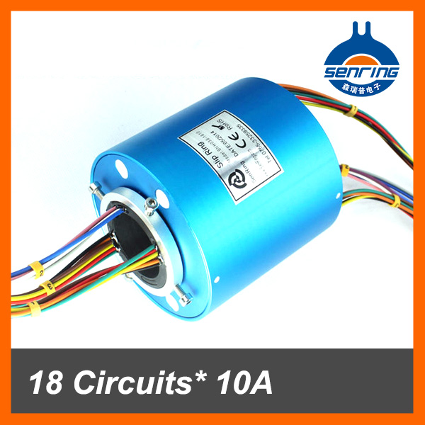 Senring manufacturer slip ring connector 18 circuits/wires of through bore size 38.1mm (1.5'')