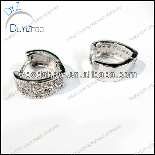 High quality white gold huggies