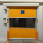 industrial automatic quick action pvc curtain fast track dynamic roll up transparent high speed bay doors albany dynaco