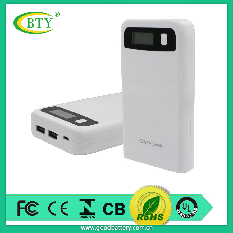 BTY latest designd portable backup battery power bank power pack with Lcd screen 12000mAh high capacity (model P155)