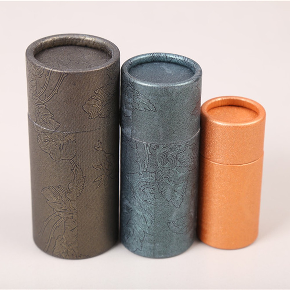Good quality empty deodorant tube container kraft paper tube cardboard packaging
