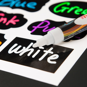 Premium Erasable white color Liquid Chalk Marker Pen with Reversible Tip - Perfect for Mason Jars, Windows, Glass, Labels