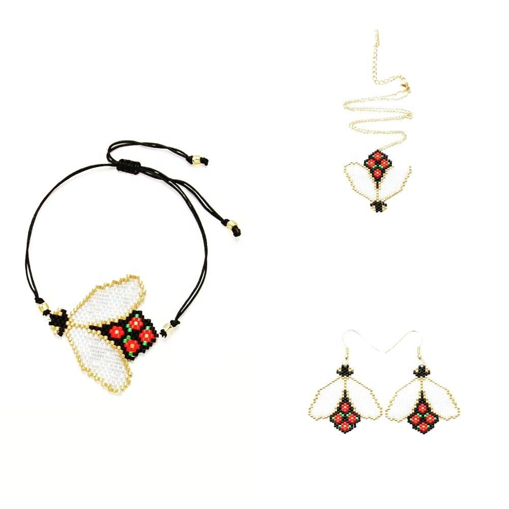 Moyamiya Miyuki Delica Earrings Bracelets Necklaces Beaded Bee Jewelry Set For Women S Bracelet