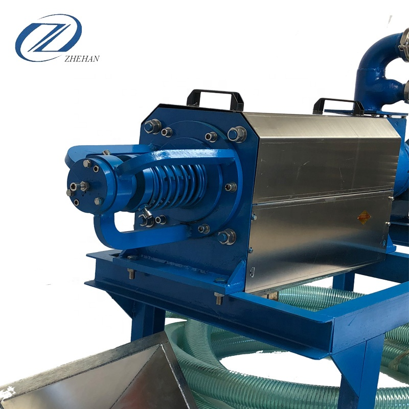 Livestock chicken duck dung manure dryer animal waste solid liquid separator machine for brewer's <strong>grain</strong>