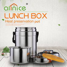 2.0L Sealed thermo vacuum Insulated food warmer lunch box/Protable metal food jar