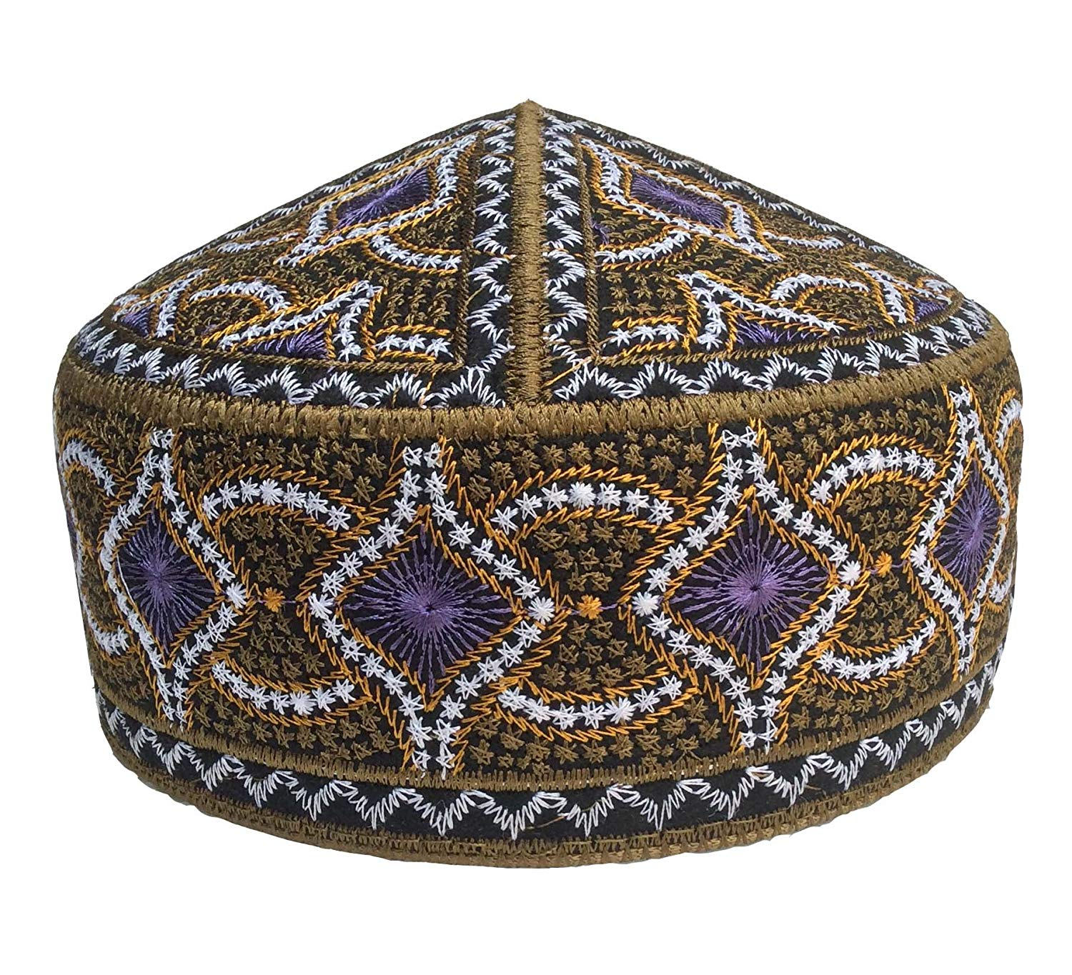 159a3ea4001 NDA Special Afgani Cap Hand Embroidered Islamic Muslim Knitting Kufi Topi  Prayer Hat Skull Cap