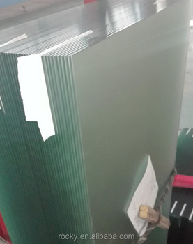 polished edge frosted glass