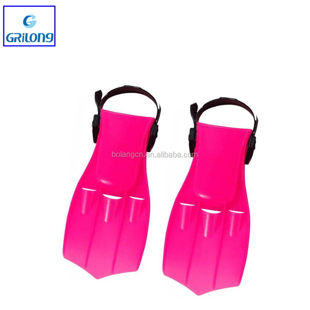 China surfboard fins light weight and comfortable children beginner PVC swimming diving fins