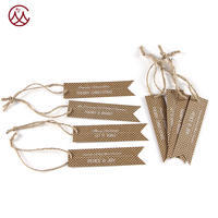 Christmas Gift Tags Kraft Paper Bag Brown Paper Tag