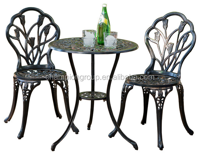 Beautifully Designed Mosaic Cast Iron Bistro Set Tea French Table Sets Vintage Patio Product On Alibaba