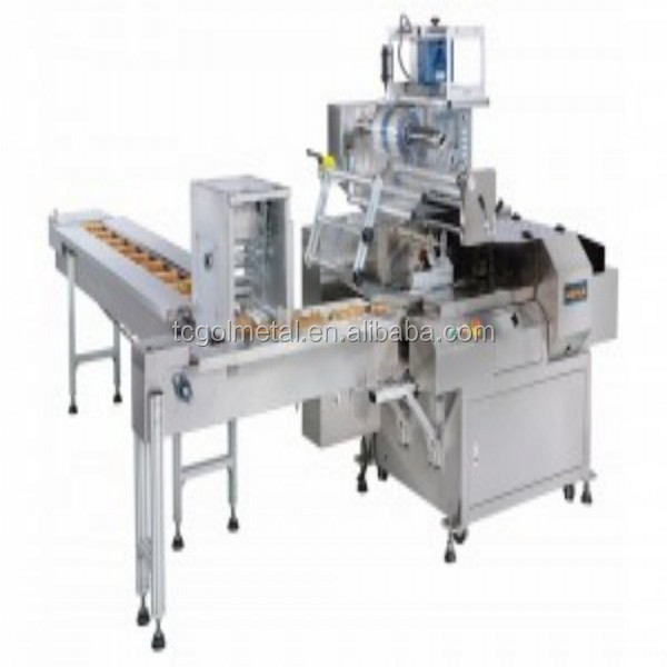 toothpick holder hot shrink film wrapper machine with thermal shrinkage tunnel
