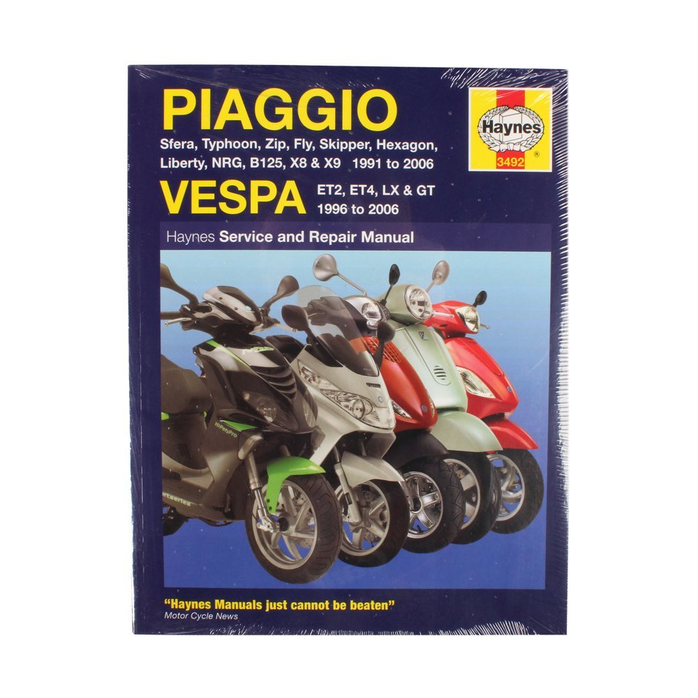 Get Quotations · Haynes Repair Manual (Piaggio_ Vespa_ 1991-2006_ Paperback)