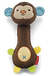 BDR Trading 2016 Animal baby rattles toys for baby soft animal handbells plush rattless baby toys 0-12 months toddler toys baby speelgoed (Monkey)
