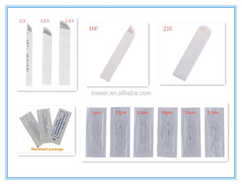 Adshi Microblading Needles Eyebrow Tattoo Embroidery Blades For 3d ...