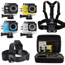 Head Chest Mount Harness + Carry Bag + 2.0″ LCD WiFi SJ6000-w9 Action Sports Waterproof Camera as GOPRO Hero SJCAM SJ4000 SJ5000