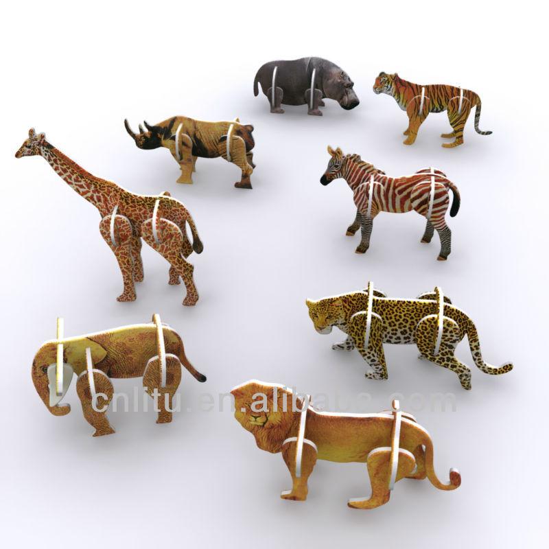 3d jeu en carton des animaux pour les enfants puzzle id du produit 500000371185. Black Bedroom Furniture Sets. Home Design Ideas
