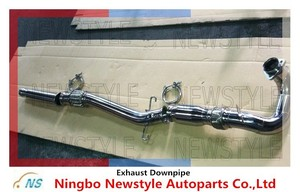 3inch Polish Stainless Steel SAAB Exhaust Downpipe for 900NG/9-3OG