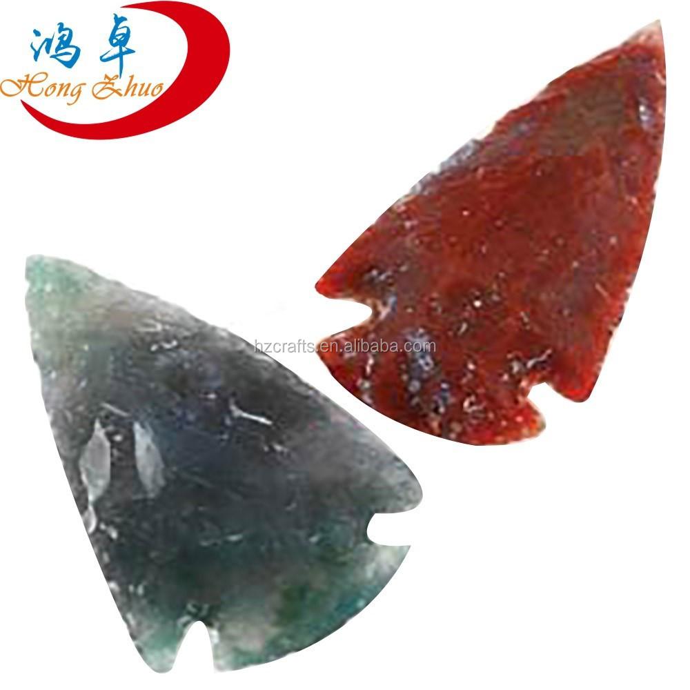 Wholesale Agate Stone Spearhead Arrowhead Point Pendant