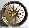 High Polish Lip High Polish Center With Gold Clear Coat 3 pcs Forged Car Wheel Rim