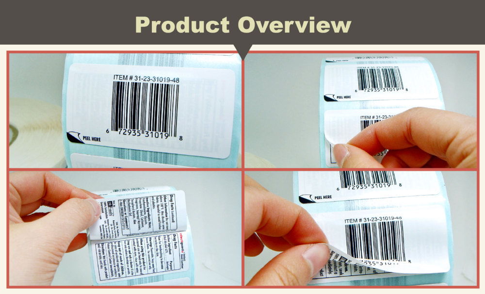 double layer label sticker barcode label