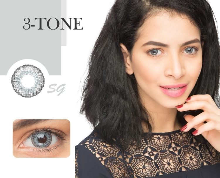 2021 New Fashion 3 tone natural color contact lenses wholesale lens manufacturer