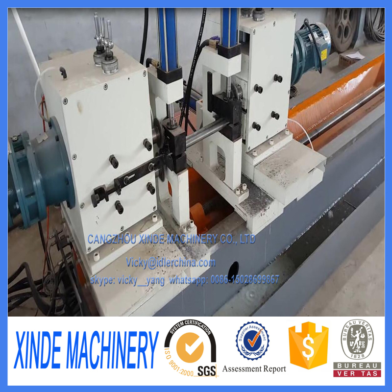 shaft milling machine for idler roller conveyor
