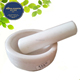 dia.13cm pure white marble/ granite mortar and pestle
