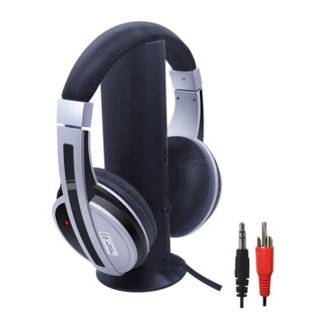 Wireless TV headphone 5-in-1 stereo Fm headphone for TV with receiver