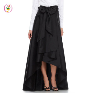 High Waist Large Swing Tulle Women knee length black pleated long skirts