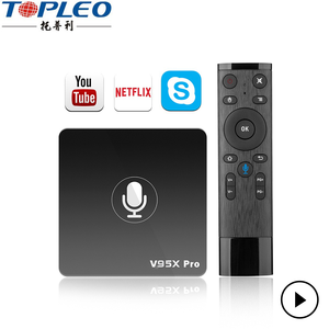 RJ45 10/100M 4k full HD video resolution playback google Certified android tv box with voice input function