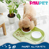 Wholesale manufacture high quality lovely large cheap plastic double pet food bowl dog bowl